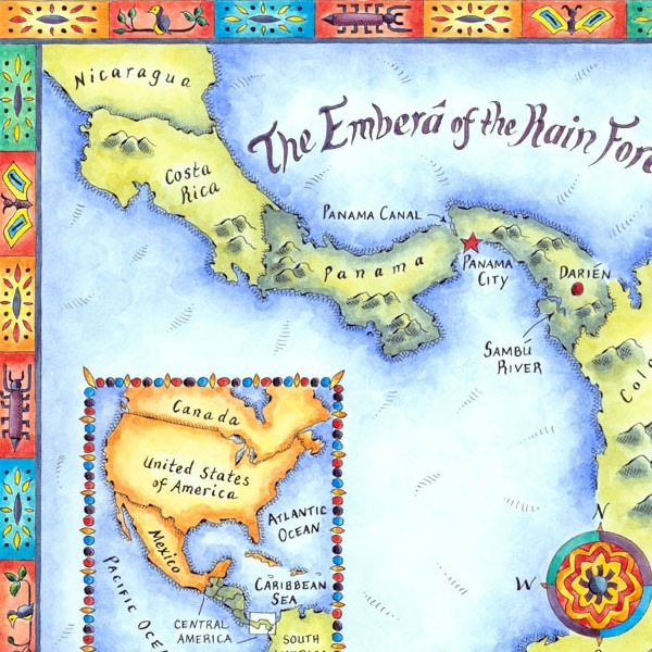 Emberá Map