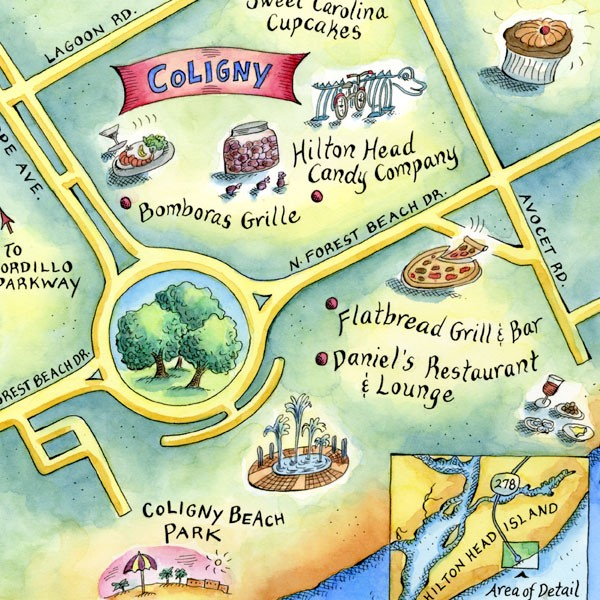 Coligny Map