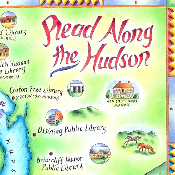 Read Along the Hudson Map