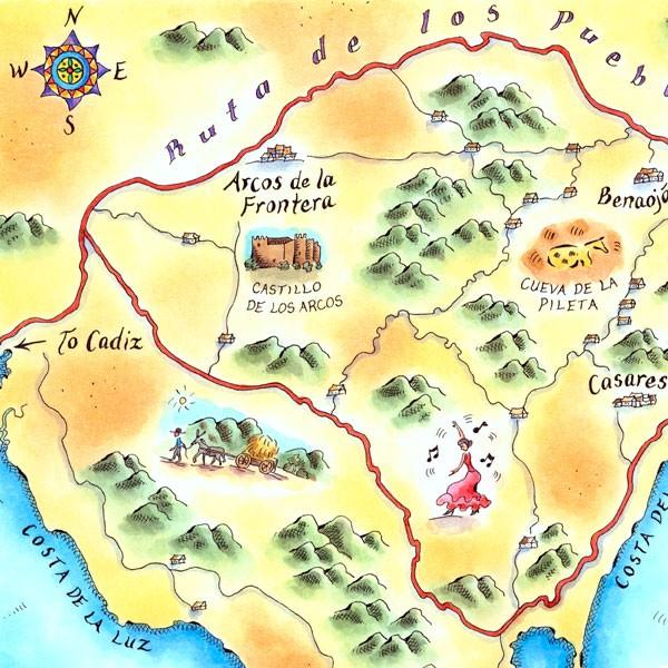 Ruta de los Pueblos Blancos Map
