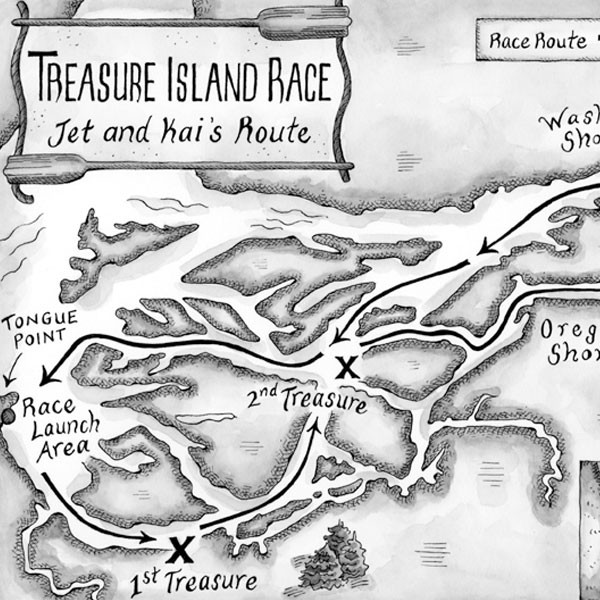 Treasure Island Race Map