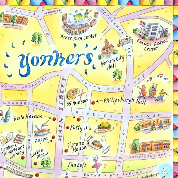Yonkers Map
