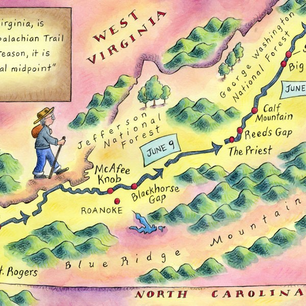 Map ~ GRANDMA GATEWOOD HIKES THE APPALACHIAN TRAIL