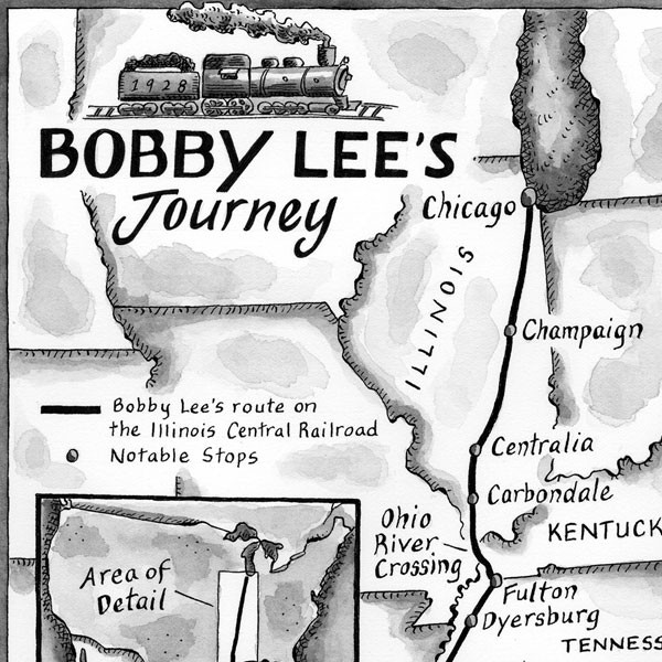 Map ~ Bobby Lee 's Journey