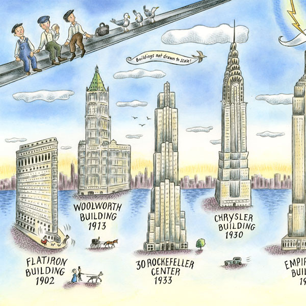 MANHATTAN: MAPPING THE STORY OF AN ISLAND ~ Skyscrapers